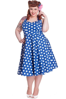 Hell Bunny Blue Mariam Dress